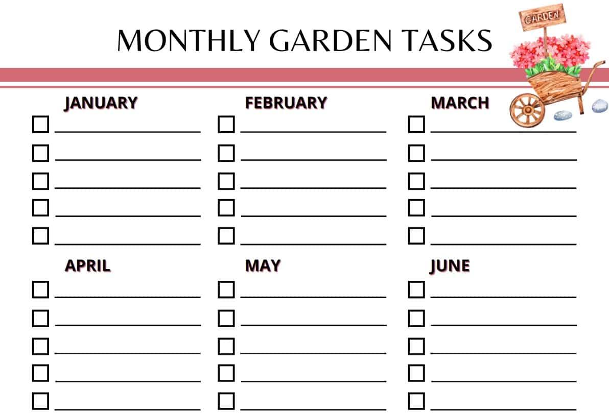 Garden Planner Monthly Garden Tasks