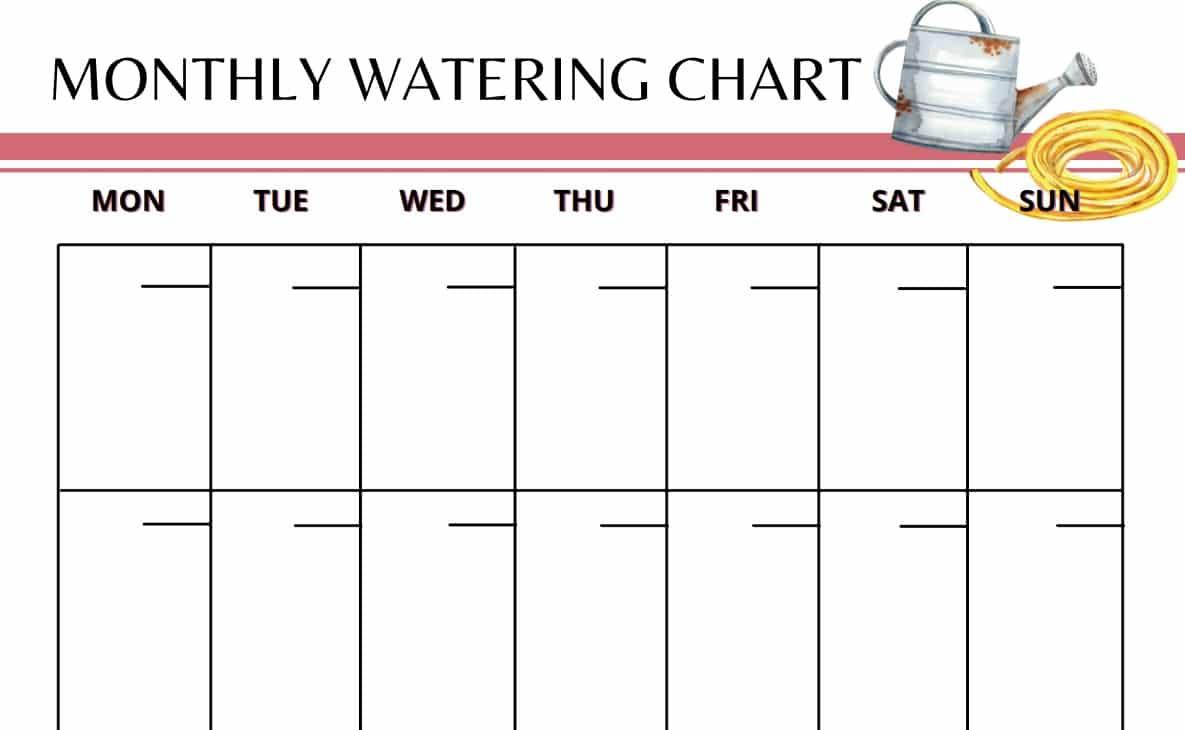 Garden Planner Water Chart