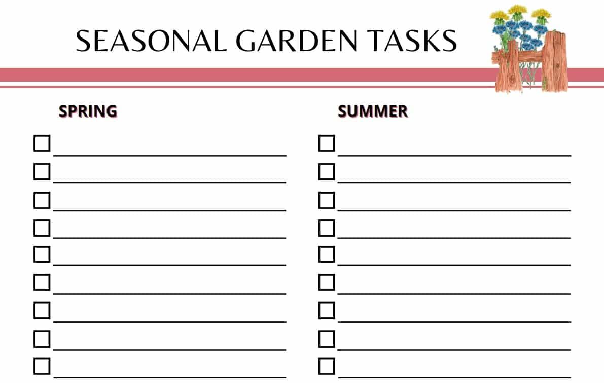 Garden Planner Seasonal Tasks