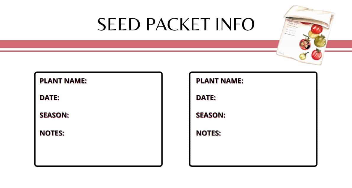 Seed Packet Info