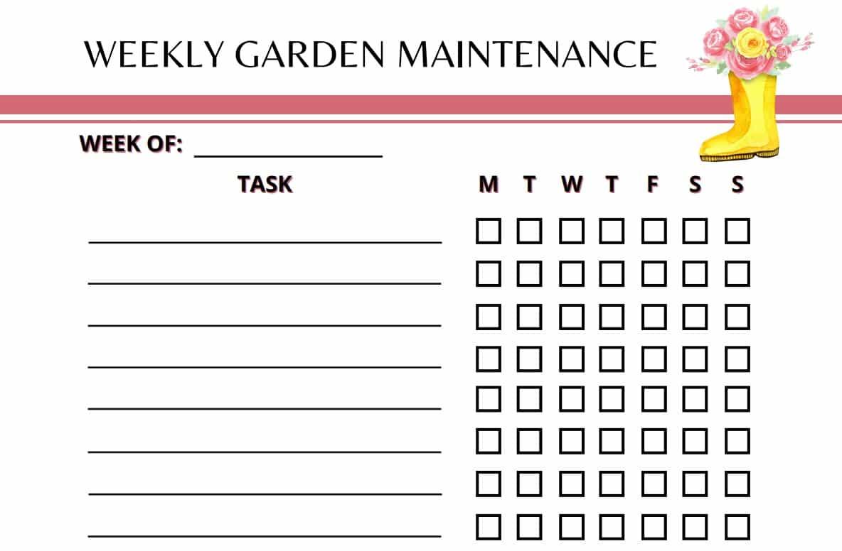 Garden Planner Weekly Maintenance