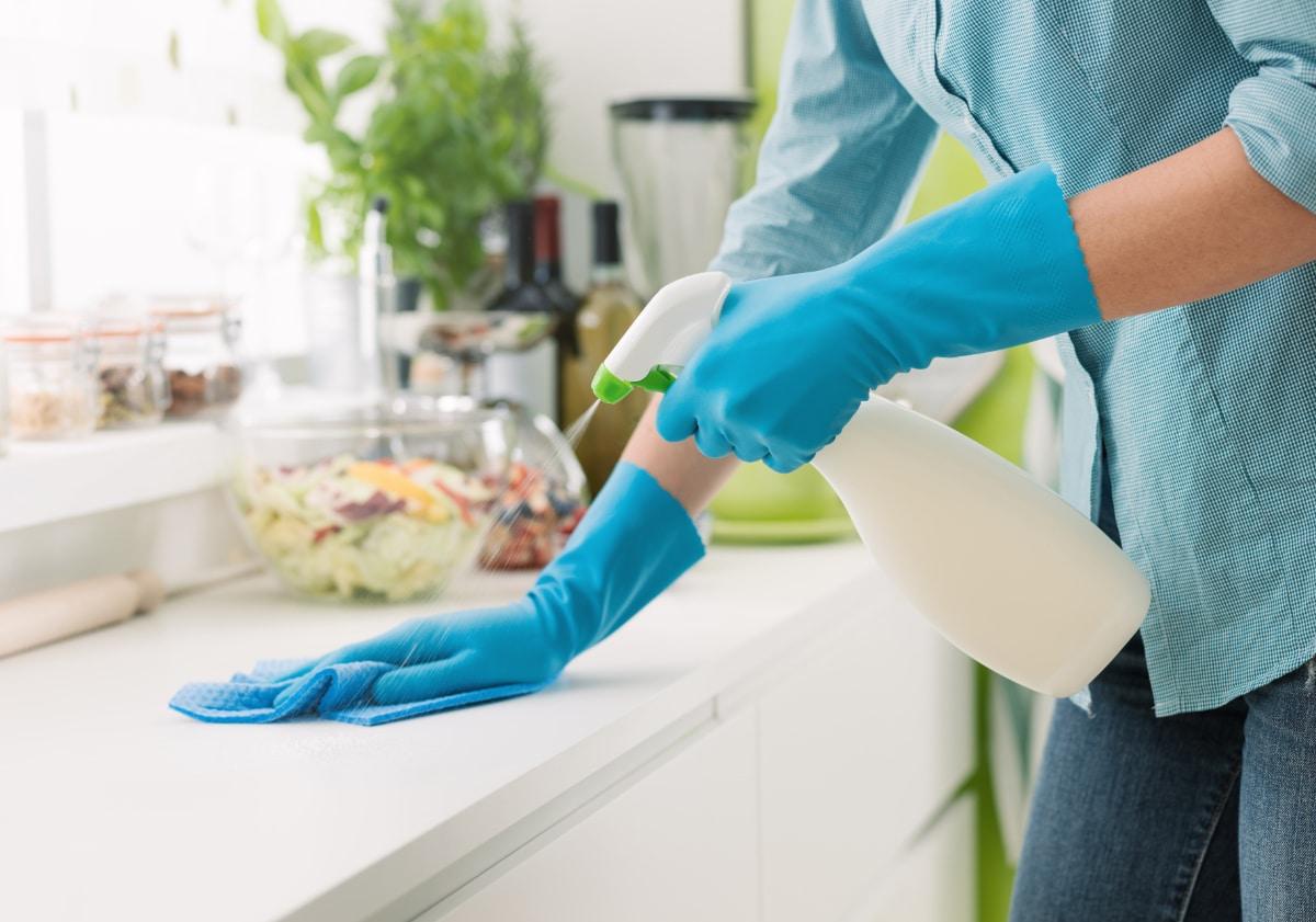 Spray Bottle in Kitchen