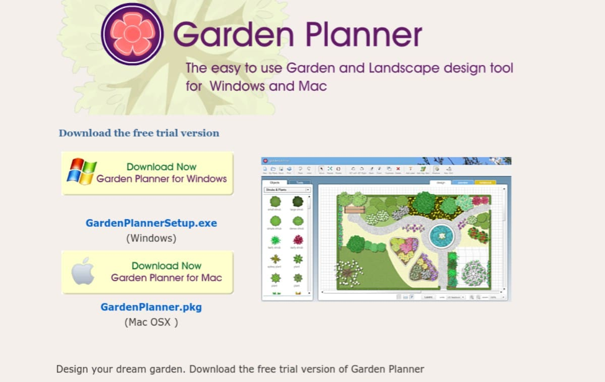 Garden Planner online tool screenshot
