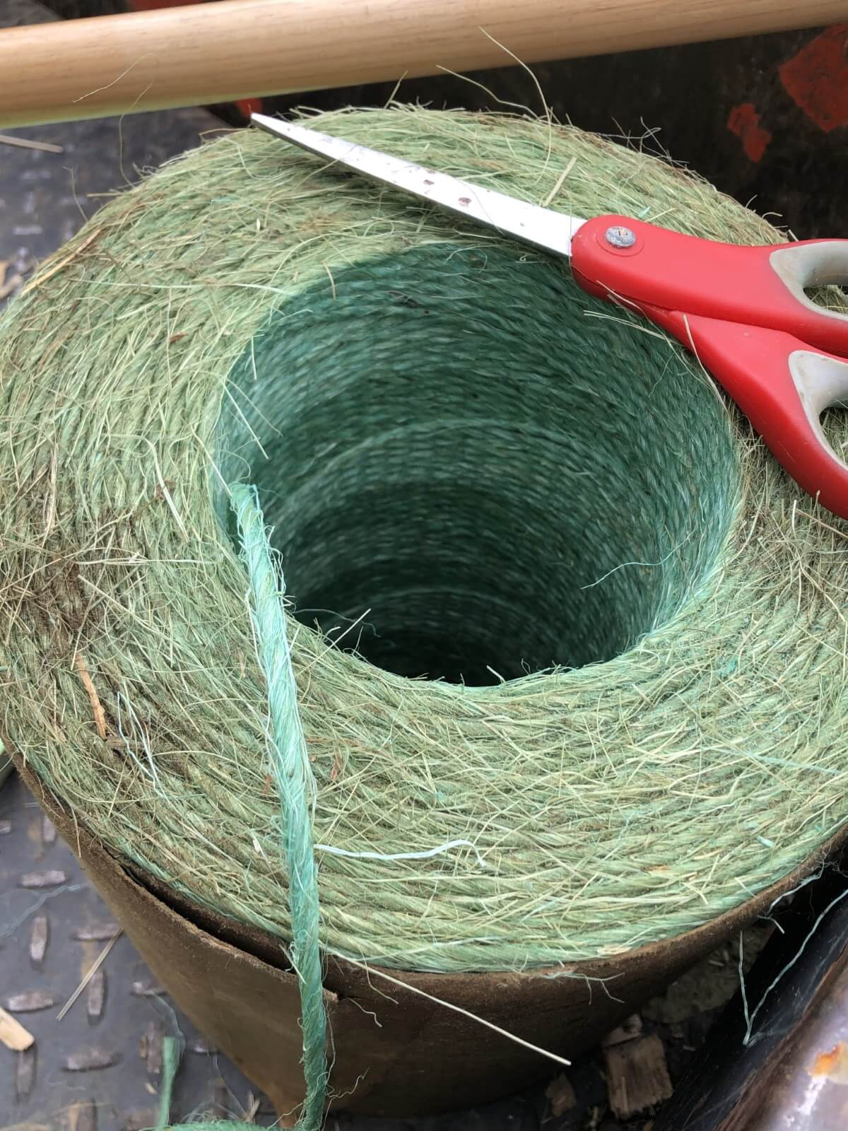 Roll of baling twine
