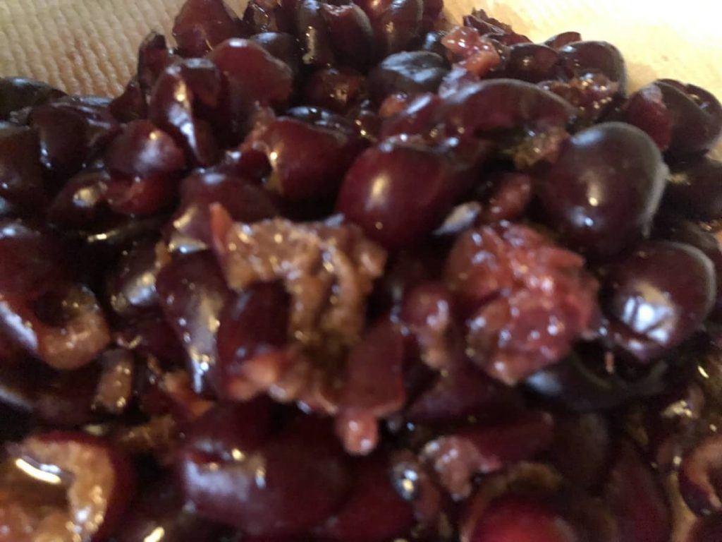 pitted cherries for fruit leather